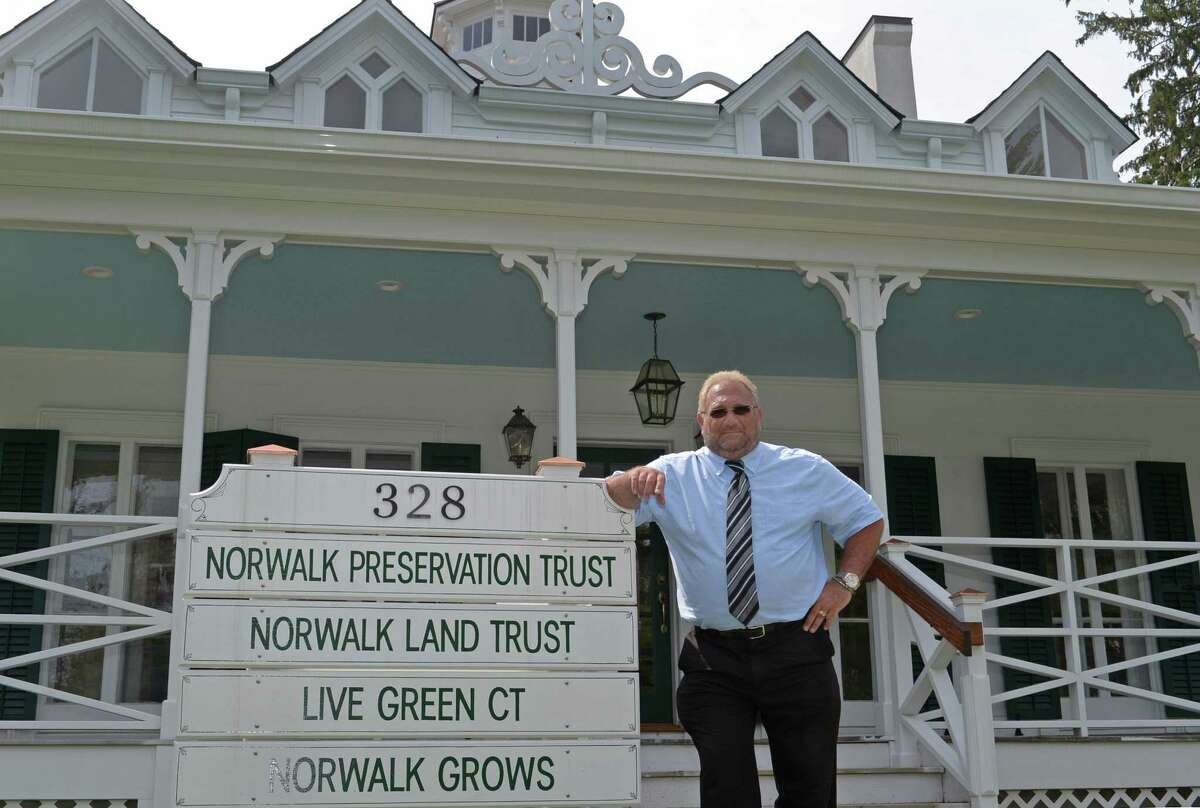 Michael A. Mocciae, Director of Norwalk Department of Recreation and Parks, Thursday, June 29, 2017, as he tours the restored Fodor Farm property in Norwalk, Conn. Mocciae, who is retiring as department director July 7th presided over park improvements amid shrinking budgets and helped bring private revenue sources into the parks such as the restaurant at Calf Pasture Beach.