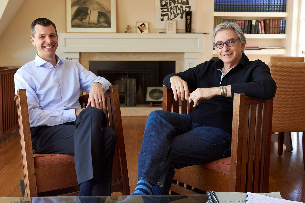 Mark C. Hanson (l.) with Michael Tilson Thomas