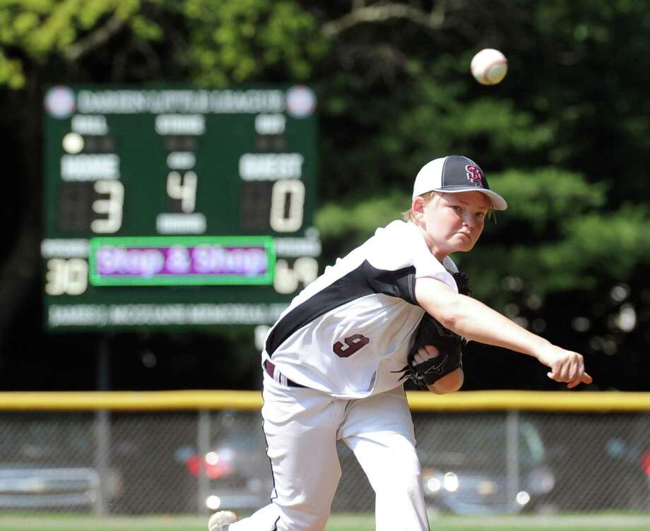 Stamford North pitcher Kyle Kipp throws during the Little League baseball playoff game between Stamford North and Ridgefield at McGuane Field in Darien, Conn., Tuesday, July 4, 2017. Photo: Bob Luckey Jr. / Hearst Connecticut Media / Greenwich Time
