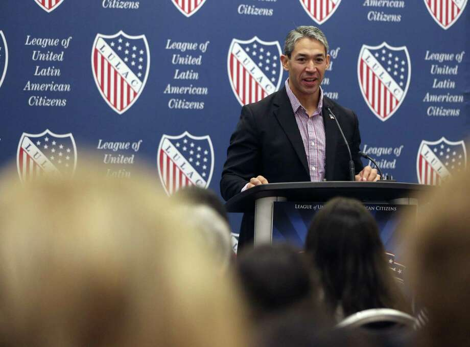 Mayor Ron Nirenberg speaks on the Fourth of July at a news conference kicking off the LULAC national conference being held at the Convention Center. Photo: William Luther /San Antonio Express-News / © 2017 San Antonio Express-News