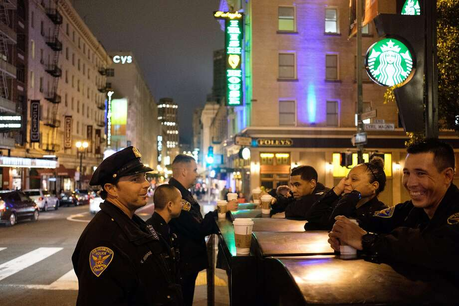 Officers in the Tenderloin chipped in $10 and $20 apiece to get a homeless woman and her 2-year-old daughter a roof over their heads at a Tenderloin hotel. Photo: Nick Otto, Special To The Chronicle