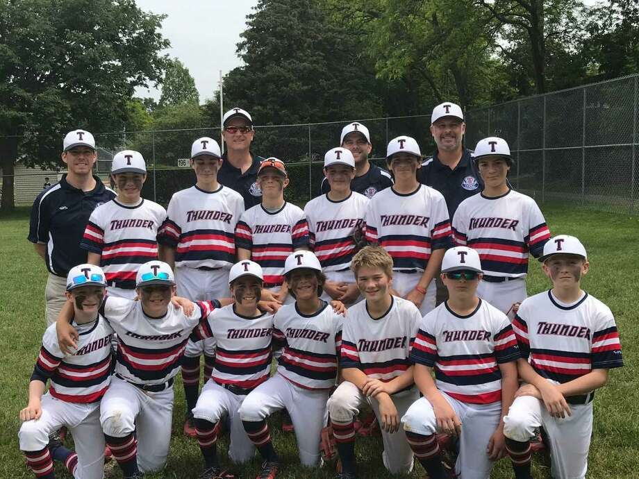 The Old Greenwich-Riverside Civic Center Thunder Blue U12 team placed second at the War at the Shore Independence Day Tournament in East Lyme over the weekend. Photo: Contributed Photo