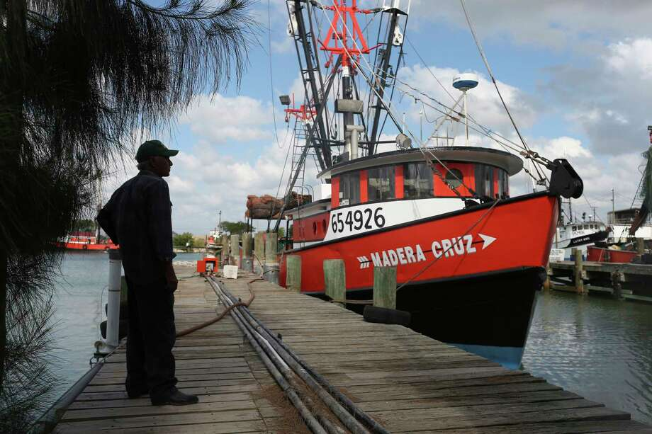 Carlos Zavala, 60, has been shrimping for 18 years. The Brownsville-Port Isabel shrimping fleets uses up to 500 H2B visa yearly but could come up a few hundred short this year.  Photo: JERRY LARA / © 2017 San Antonio Express-News