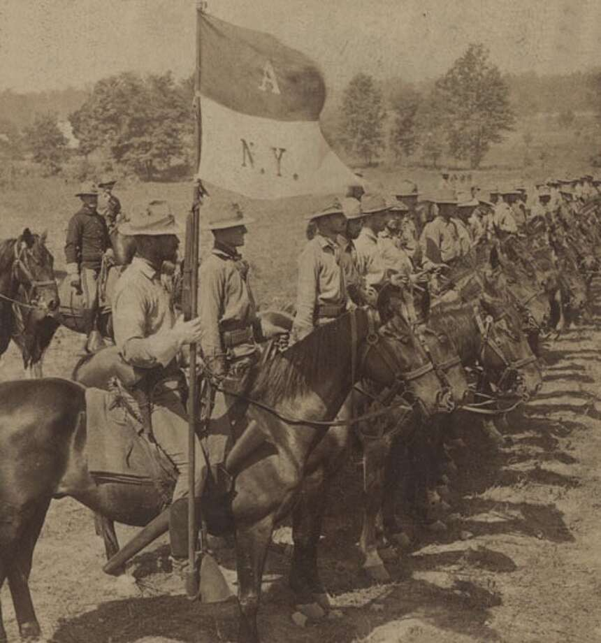 "Troopers of the New York National Guard's Squadron ""A"" during the Spanish-American War. The history of New York National Guard cavalry units is the focus of a new exhibit at the state Military Museum in Saratoga Springs. (Courtesy Military Museum)"