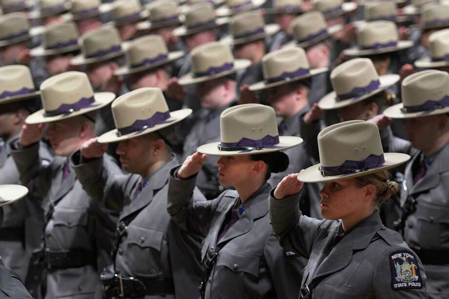 Over two hundred new Troopers received their diplomas during the 204th Basic School Graduation ceremony at the Empire State Plaza Convention Center Thursday Oct. 13, 2016 in Albany ,  N.Y.  (Skip Dickstein/Times Union) Photo: SKIP DICKSTEIN / 20038365A