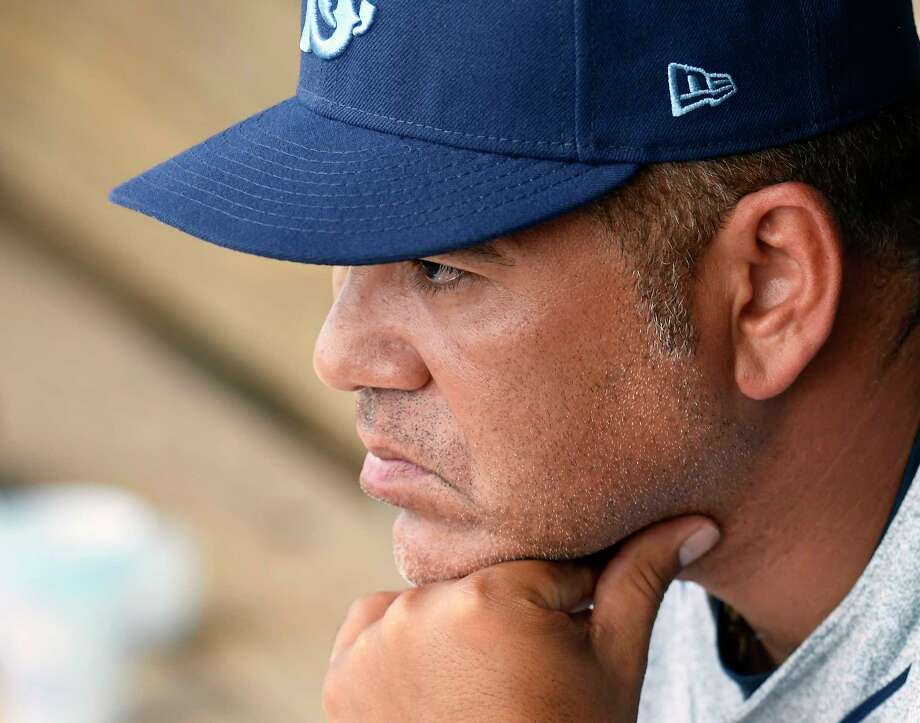 Brooklyn Cyclones manager Edgardo Alfonzo during a minor league baseball game against the Tri-City ValleyCats on Tuesday, July 4, 2017, in Troy, N.Y. (Hans Pennink / Special to the Times Union)  Photo: Hans Pennink / Hans Pennink