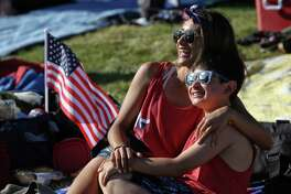 Scenes from Fourth of July celebrations, Tuesday, July 4, 2017 at Gasworks Park.