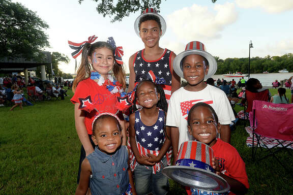 Young members of the Washington family were at the July 4th annual City of Beaumont Festival and Fireworks Show. Many enjoyed picnicking, playing, and taking in the musical entertainment at Riverfront Park prior to the show. The Symphony of Southeast Texas also held a pre-fireworks performance inside the Julie Rogers Theatre. Photo taken Tuesday, July, 4, 2017 Kim Brent/The Enterprise