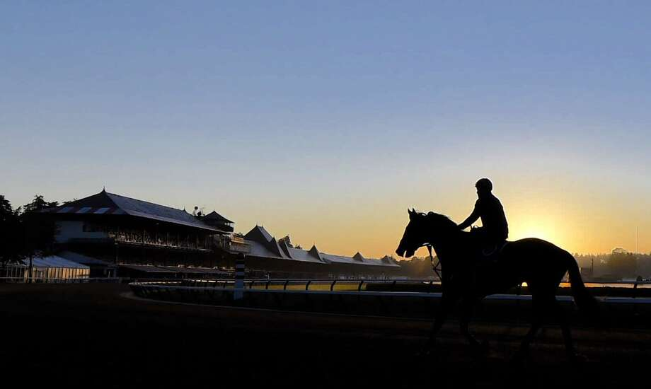 The main track at Saratoga Race Course opened for training on Wednesday, July 5, 2017. Opening day of the 2017 meet is July 21. (Skip Dickstein/Times Union) Photo: Skip Dickstein/Times Union