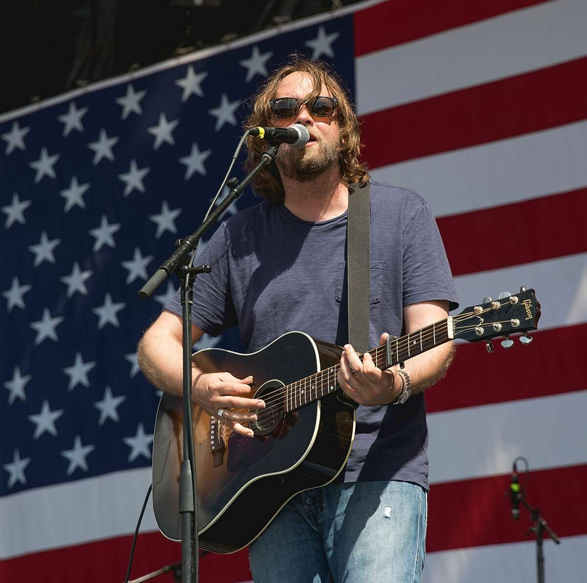 Singer-songwriter Hayes Carll performs onstage during the 44th Annual Willie Nelson 4th of July Picnic at Austin360 Amphitheater on July 4, 2017 in Austin, Texas.