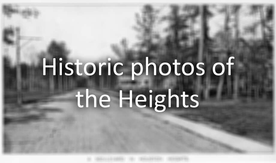 1900 - boulevard in Houston Heights, TX. from book: Picturesque Houston (1900) by W.W. Dexter Photo: Houston Chronicle