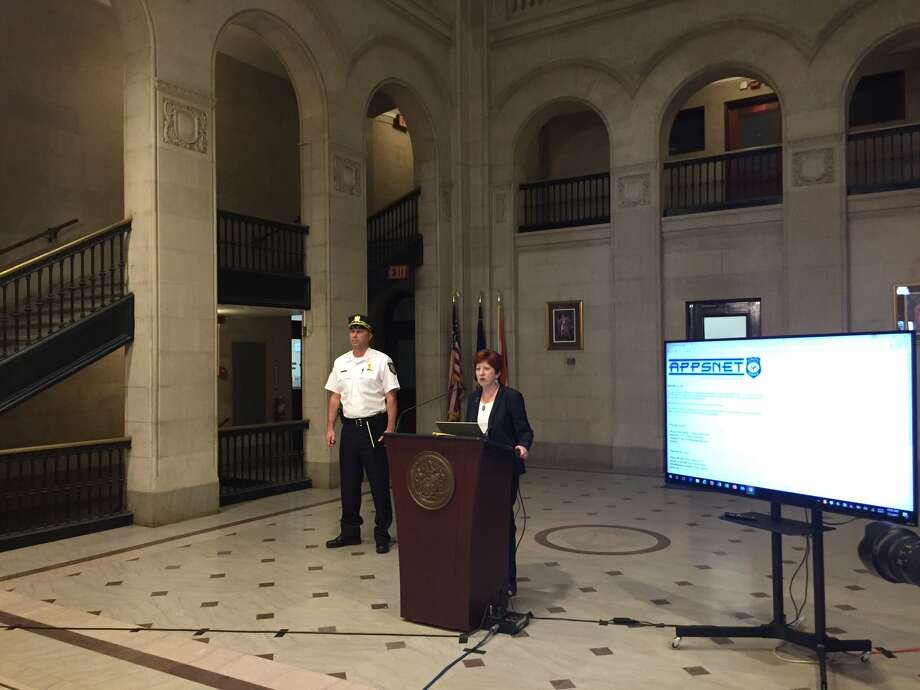 Albany officials, including Mayor Kathy Sheehan and Acting Police Chief Robert Sears, addressed an uptick in violent crime in the city at a news conference at Albany City Hall on Wednesday, July 5, 2017. Photo: Amanda Fries/Times Union