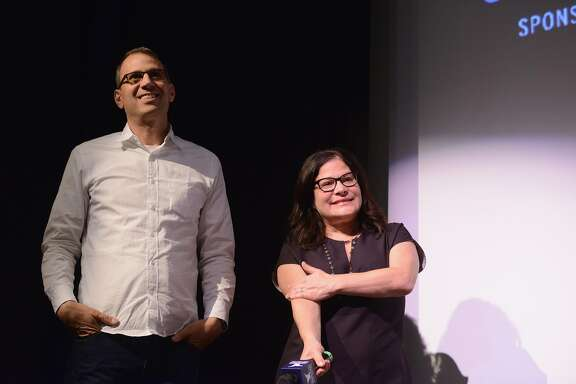 """NANTUCKET, MA - JUNE 25:  Directors Jon Shenk and Bonni Cohen attend the closing night film """"An Inconvenient Sequel: Truth To Power"""" Q&A during the 2017 Nantucket Film Festival - Day 5 on June 25, 2017 in Nantucket, Massachusetts.  (Photo by Noam Galai/Getty Images for Nantucket Film Festival)"""