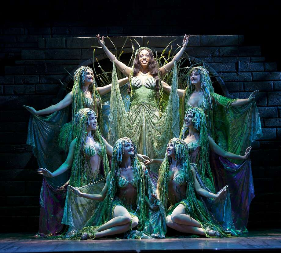 """Brittany Woodrow (center) and her entourage in the touring company of """"Spamalot."""" Photo: Scott Suchman"""