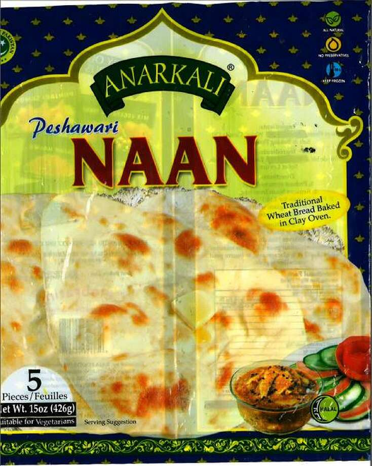 """Raja Foods LLC of Skokie, Ill. is recalling its 15-ounce package of """"Anarkali Peshawari Naan"""" because they may contain undeclared milk. People who have allergies to milk run the risk of serious or life-threatening allergic reaction if they consume these products. Photo courtesy of the U.S. Food and Drug Administration. Photo: Contributed / Contributed"""