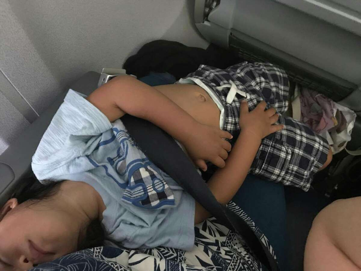 Shirley Yamauchi was told by United Airlines employees in Houston to give up her son's seat to another passenger on a flight bound for Boston. Yamauchi, of Kapolei, Hawaii said she paid $969 for the flight. Keep clicking to see more photos from Yamauchi's flight.