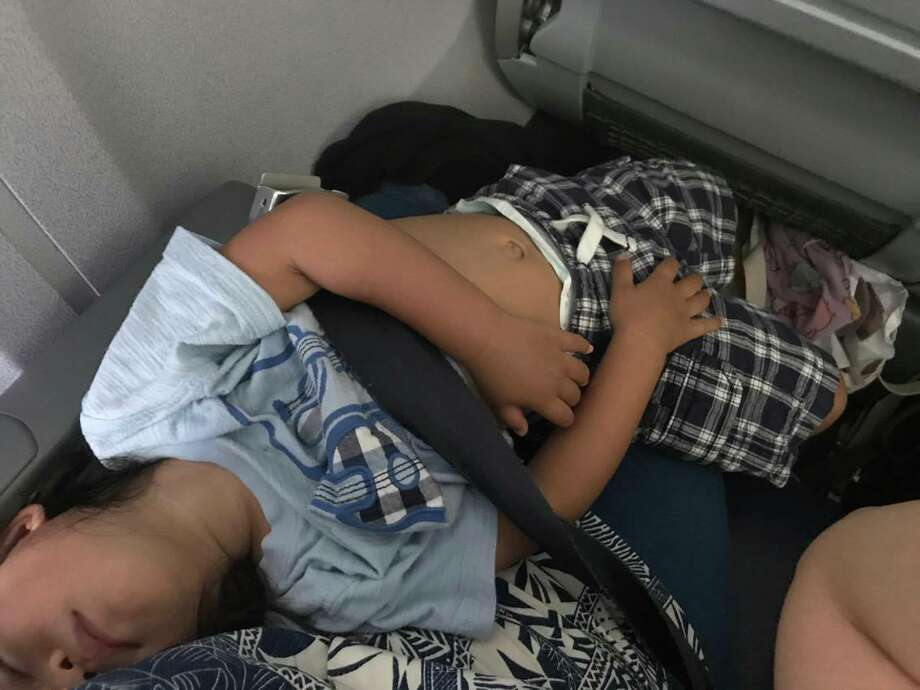 Shirley Yamauchi was told by United Airlines employees in Houston to give up her son's seat to another passenger on a flight bound for Boston. Yamauchi, of Kapolei, Hawaii said she paid $969 for the flight.Keep clicking to see more photos from Yamauchi's flight. Photo: Shirley Yamauchi
