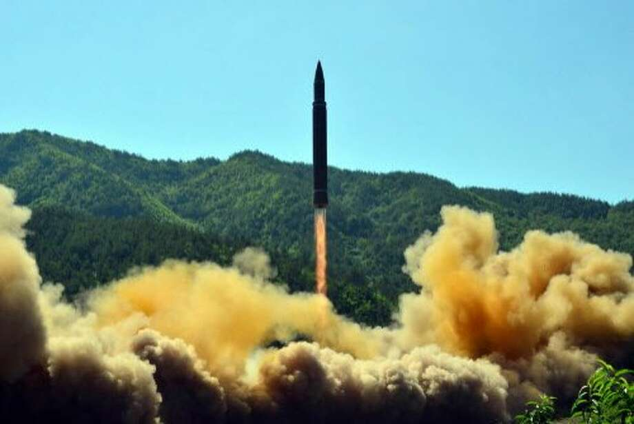 North Korea's ICBM missile launch on July 4. Photo: STR, AFP/Getty Images