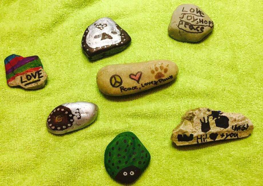 Pictured are some of the stones that have been decorated and hidden around town as part of the Painted Rocks Project in Glen Carbon. Photo: For The Intelligencer