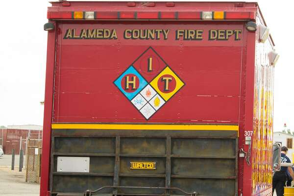 An Alameda County Fire Department vehicle.