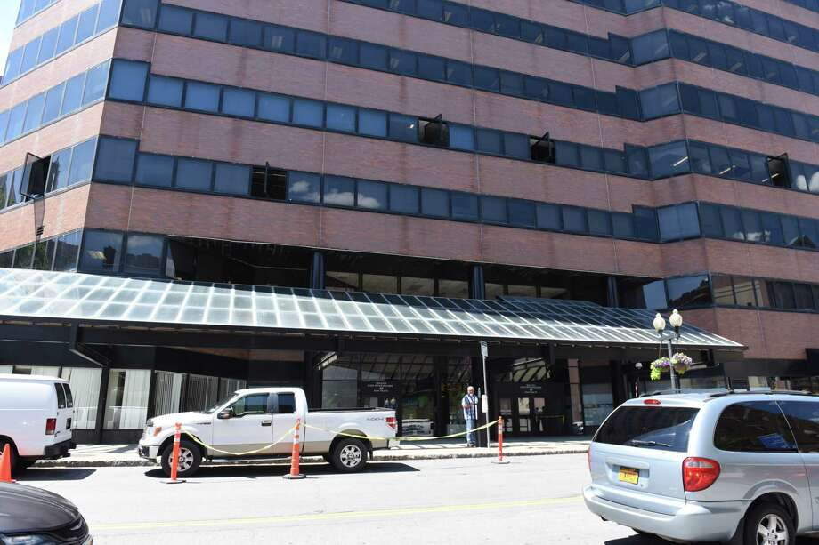 Work is continuing on the state offices at 40 N Pearl where floors 1-4 have been flooded last week on Wednesday, July 5, 2017 in Albany, N.Y.  (Lori Van Buren / Times Union) Photo: Lori Van Buren, Albany Times Union / 20040982A