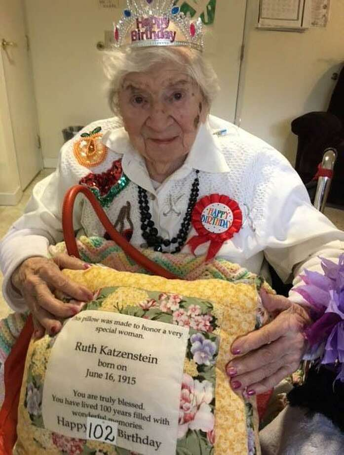 Ruth Katzenstein recently celebrated her 102nd birthday. Photo: Contributed Photo / Contributed Photo / The News-Times Contributed
