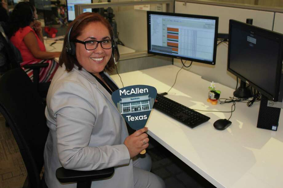 Ismena Iruegas took the first call at Charter Communications' McAllen, Texas call center, which opened earlier this year. Photo: Contributed Photo