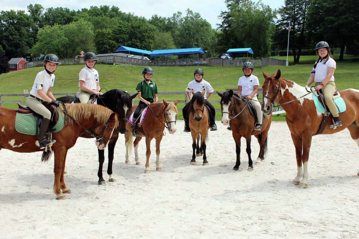 Members of the Wilton Pony Club on the last day of summer camp on June 30, 2017.