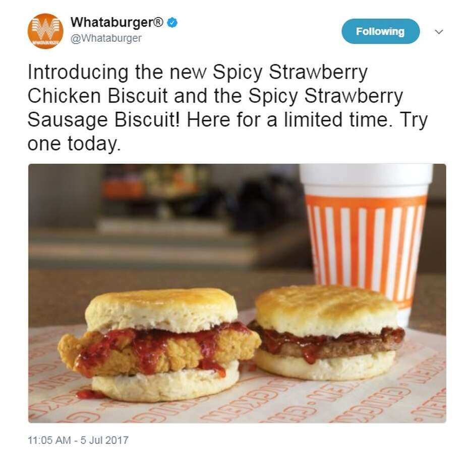 whataburger introduces new strawberry jam-drenched chicken and