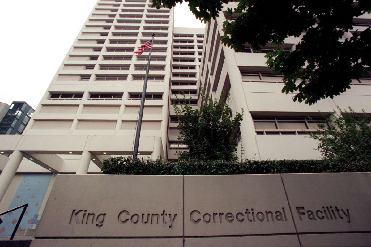 The exterior of the King County Correctional Facility in Seattle, shown in 1999.