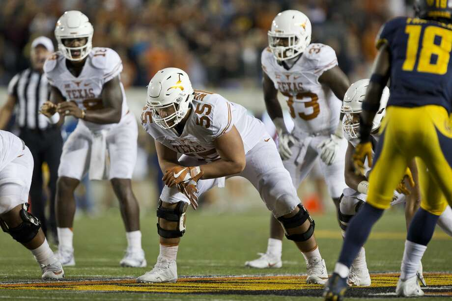 BERKELEY, CA - SEPTEMBER 17:  Offensive lineman Connor Williams #55 of the Texas Longhorns waits for the snap against the California Golden Bears in the fourth quarter on September 17, 2016 at California Memorial Stadium in Berkeley, California.  Cal won 50-43.  (Photo by Brian Bahr/Getty Images) Photo: Brian Bahr/Getty Images