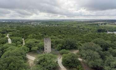 Historic Comanche Lookout Park towers above San Antonio