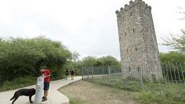 The tower at Comanche Lookout Park stands among 4.55 miles of paved and natural trails, perfect for hiking, jogging or just walking the dog.