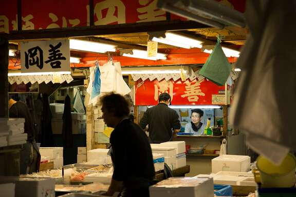 Market roles range from cleaning and transporting fish to book-keeping and accounting.             Tsukiji Fish Market, Tokyo, Japan, 5-15-2017