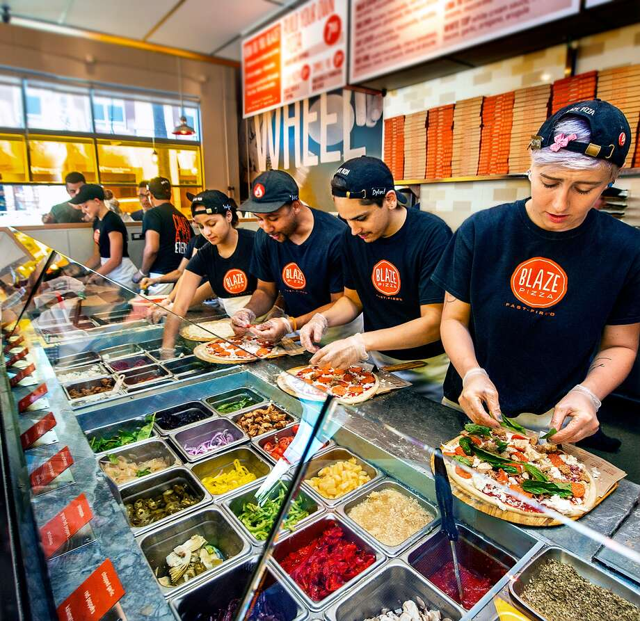 Blaze Pizza has a service model similar to Chipotle. The chain is now located in more than 30 states and is backed by a number of celebrities, including Maria Shriver. Photo via Blaze Pizza.