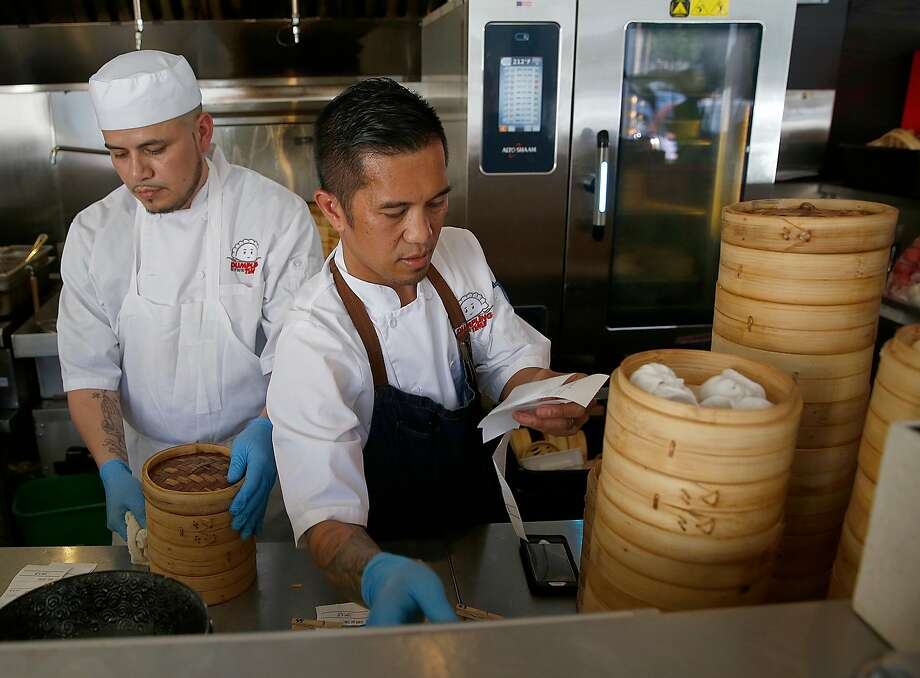Executive chef Edgar Agbayani works on orders at Dumpling Time in San Francisco. Photo: Liz Hafalia, The Chronicle