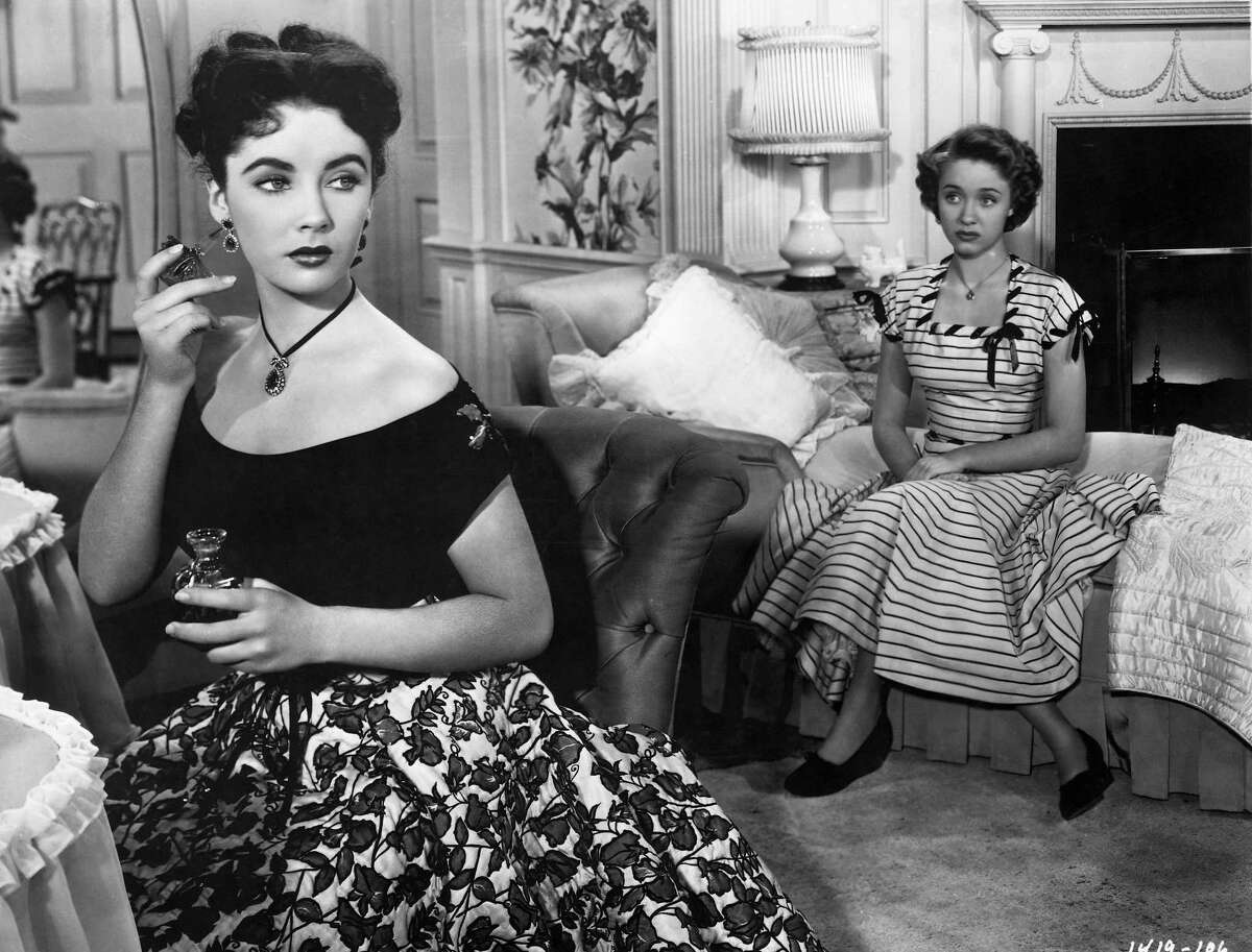 Elizabeth Taylor and Jane Powell in a scene from the movie,