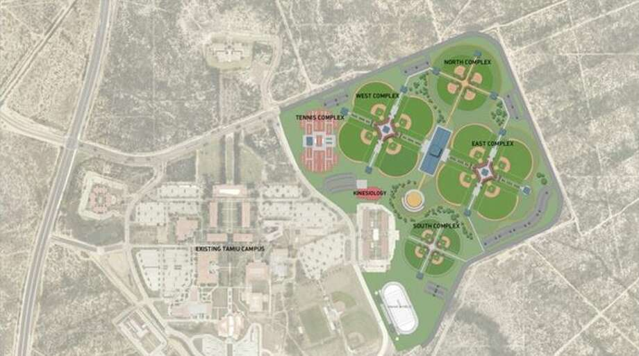 The sports complex is set to have eight baseball fields, four softball fields and four youth fields. The complex will also include 21 tennis courts, parking areas and other amenities. Photo: Courtesy