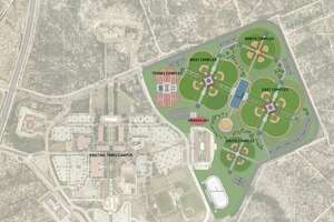 The sports complex is set to have eight baseball fields, four softball fields and four youth fields. The complex will also include 21 tennis courts, parking areas and other amenities.