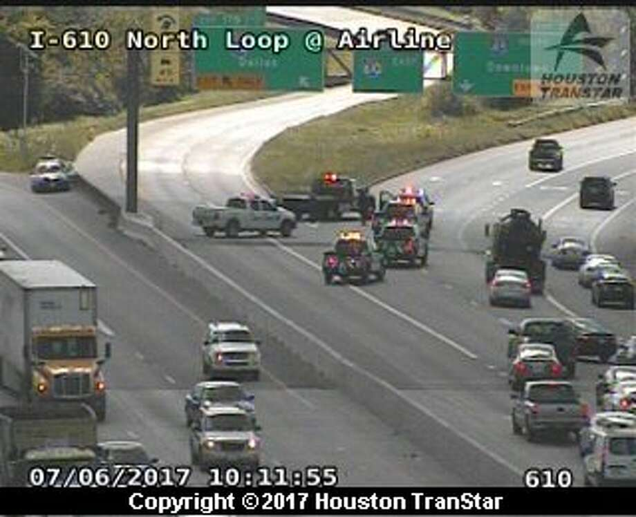North loop 610 at north freeway reopens after pedestrian for A m motors houston tx