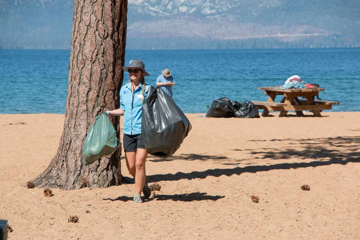 Volunteers with Keep Tahoe Blue picked up more than 1,678 pounds of trash on 5.64 miles of beach on July 5, 2017.