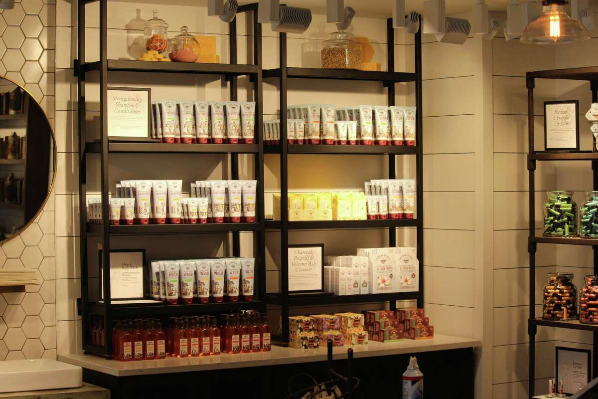 An array of hive inspired products are available at the Bedford Square location of Savannah Bee.
