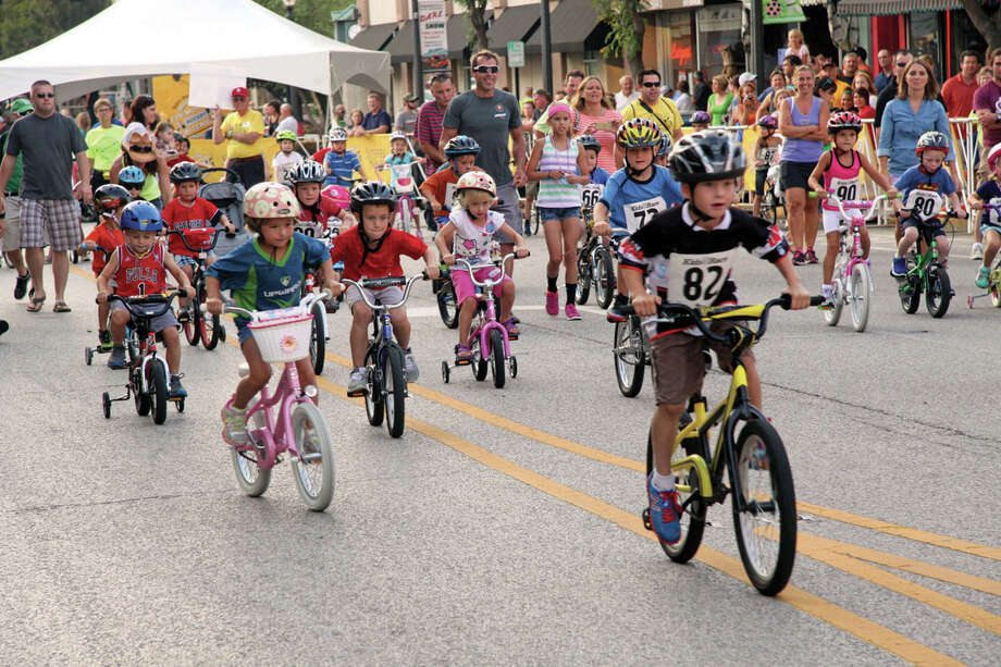 The kids' races are one of the many popular events at TheBANK of Edwardsville Rotary Criterium. This year's event is scheduled Aug. 19 in downtown Edwardsville. Photo: Intelligencer Photo