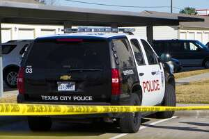 A Texas City police vehicle is pictured in this Jan. 15, 2014 file photo.