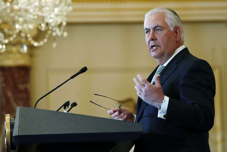 New York's attorney general is investigating whether Secretary of State Rex Tillerson's former employer, ExxonMobil, misled investors about the impact of climate change. Photo: Jacquelyn Martin, Associated Press