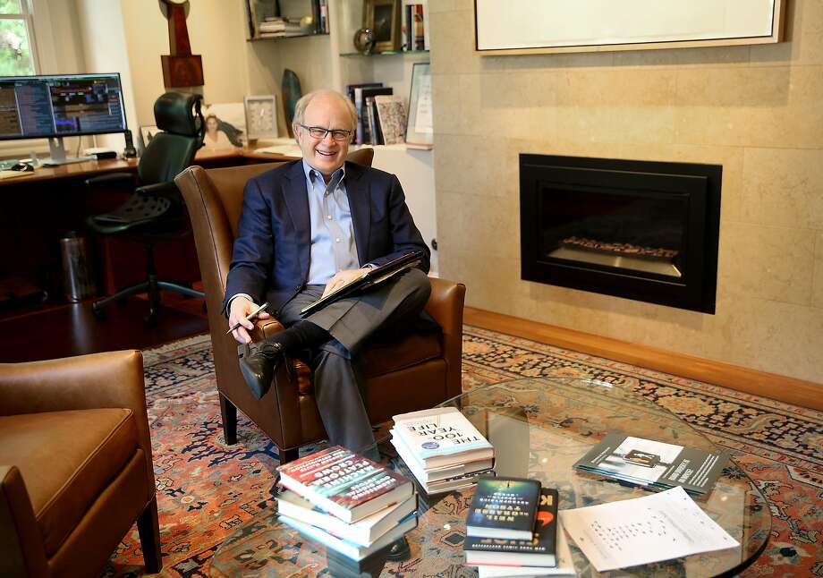 John Thompson, a legendary executive recruiter for Heidrick & Struggle, at his Atherton home on Wednesday. Thompson says he looks for leaders who can swiftly recognize patterns and don't need a lot of data to make decisions. Photo: Liz Hafalia, The Chronicle