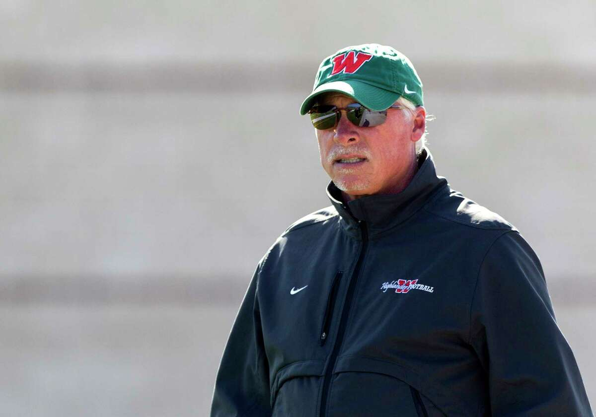 The Woodlands head coach Mark Schmid is seen during football practice at Woodforest Bank Stadium Thursday, Dec. 15, 2016, in Shenandoah. The Woodlands takes on Lake Travis in the Division I Class 6A state title game at AT&T Stadium Dec. 17.