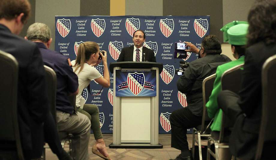 The League of United Latin American Citizens hosted their annual convention in San Antonio, and among the many events they had a press conference regarding the perks of being a sanctuary city and the reason for opposing the SB 4 at Henry B. Gonzalez Convention Center on July 6, 2017. Mayor Raul Reyes of El Cenizo spoke about the discrimination and marginalization that the passing of SB4 will cause the Latino community. Photo: Srijita Chattopadhyay, Staff / San Antonio Express-News / © 2017 San Antonio Express-News