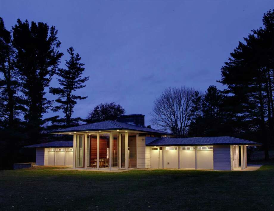 Gores Pavilion, in New Canaaan, Conn., part of Jack Trifero's modern home tour. Photo: Contributed /Michael Biondo / Hearst Connecticut Media / New Canaan News