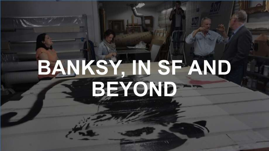 Click on to see some of Banksy's works in San Francisco and around the world.